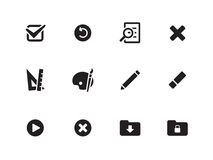 Application interface icons. Application interface icons on white background. Vector illustration royalty free illustration