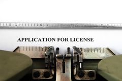 Application for license Stock Images