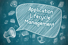 Application Lifecycle Management - Business Concept. Stock Images