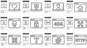 Application line icon set. Stock Photography