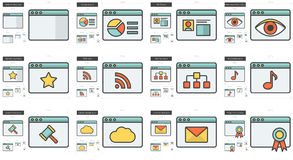 Application line icon set. Royalty Free Stock Images