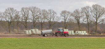 Application of manure on arable Royalty Free Stock Photos