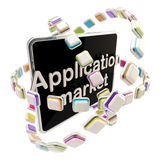 Application market emblem icon as a pad Royalty Free Stock Photo