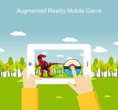 Application mobile augmentée de jeu de réalité Photo stock