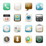 Application mobile icons and white background Royalty Free Stock Photography