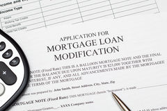 Application for Mortgage Loan Modification Stock Photography