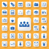 Application office tools sign and symbol icons set. Royalty Free Stock Photography