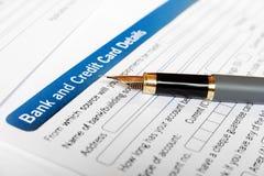Application par la carte de crédit image libre de droits