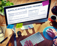 Application for Permit Form Authority Concept Stock Images