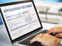 Application for Permit Form Authority Concept Royalty Free Stock Image