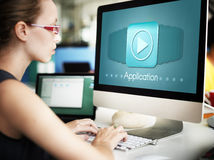Application Program Icon Apply Career Concept. Application Program Icon Apply Career Stock Photos
