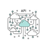Application Programming Interface API Technology vector illustration