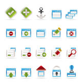 Application, Programming, Server and computer icon Stock Photography
