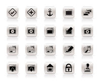 Application, Programming, Server and computer icon Stock Photo