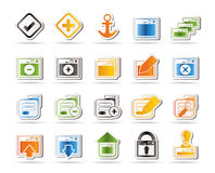 Application, Programming, Server and computer icon Royalty Free Stock Images