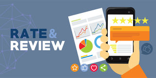 Application rating and review from user Royalty Free Stock Images