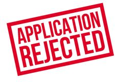 Application Rejected rubber stamp Stock Photography