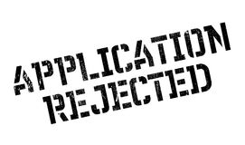 Application Rejected rubber stamp Stock Image
