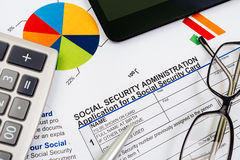 Application for social security Royalty Free Stock Photography