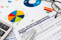 Application for social security Stock Photos