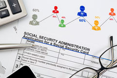 Application for social security Royalty Free Stock Photo