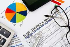 Application for social security Royalty Free Stock Photos