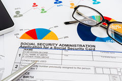 Application for social security Stock Photo