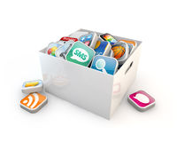 Application software storage Stock Image