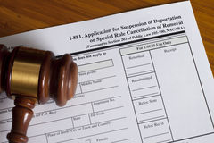 Application Suspension of Deportation Royalty Free Stock Image