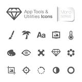 Application tool & utilities related icons. Royalty Free Stock Image