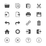 Application toolbar flat icons Stock Photography