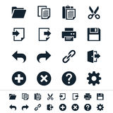 Application toolbar icons. Simple  icons. Clear and sharp. Easy to resize. No transparency effect. EPS10 file Royalty Free Stock Images