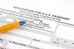 Application for a U.S. passport Stock Photos