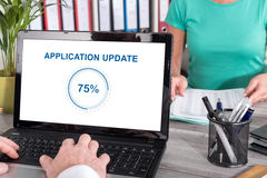 Application update concept on a laptop Royalty Free Stock Photography