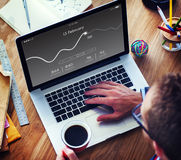 Application Usage Graph Chart Concept Royalty Free Stock Photography