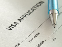 Application for visa Royalty Free Stock Photography