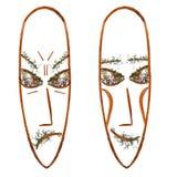 Application, visage de masque des fleurs pressées sèches photographie stock
