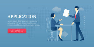 Application web banner Stock Images