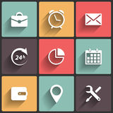 Application Web Icons in Flat Design. Application Icons in Flat Design for Web and Mobile Royalty Free Stock Photo