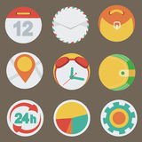 Application Web Icons in Flat Design. Vector illustration, eps 10 Stock Photo