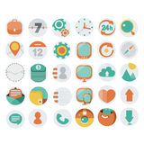 Application Web Icons in Flat Design Stock Photo