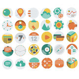 Application Web Icons in Flat Design 3 Royalty Free Stock Photo