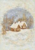 Application: winter village Stock Photo