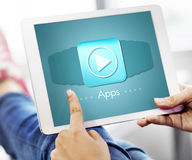 Applications Apps Multimedia Invention Devices Concept Royalty Free Stock Image