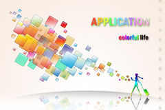 Applications change our life Royalty Free Stock Images