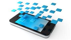 Applications de téléphone Photographie stock libre de droits