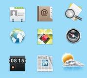 Applications et graphismes de services Images stock
