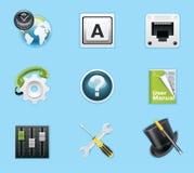 Applications et graphismes de services Photo stock