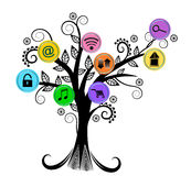 Applications icon tree concept Royalty Free Stock Photography