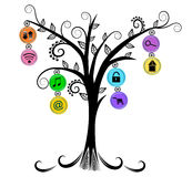 Applications icon tree. Isolated concept illustration Royalty Free Stock Photo